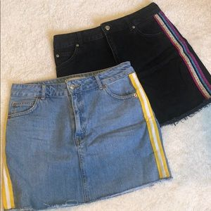 BUNDLE of 2 Topshop denim skirts